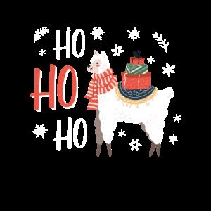 Lustiges Geschenk, Hohoho Lama Weihnachten