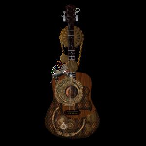 Wunderbare Steampunk-Gitarre