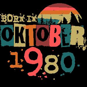 Oktober 1980 geboren Geburtstag Geschenk