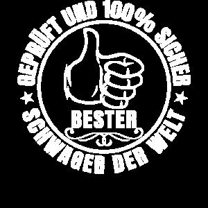 Bester Schwager der Welt Geschenk T Shirt zum Gebi