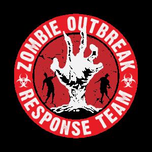 Zombie ausgebrochen Halloween Team