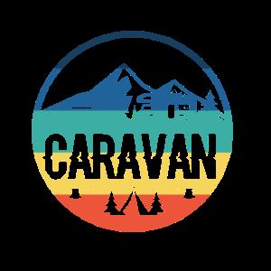 Caravan camping in der Natur mit Zelt Geschenk