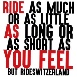 Ride as you feel