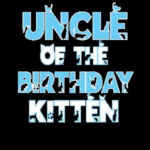 Onkel des Geburtstags Kätzchen Mädchen Katzenliebhaber