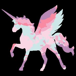 Pegasus Einhorn Fee Silhouette Geschenkidee