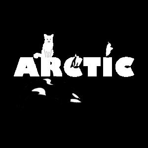 Arktis Design ARCTIC mit Polarfuchs Orca Pinguinen
