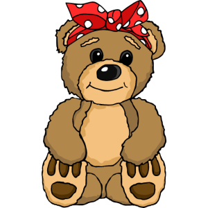 Teddy Bär mit Kopfband sehr süß für Kinder