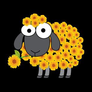 Schaf Blume Design für einen Schafe Liebhaber