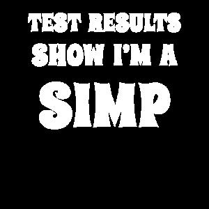 Testergebnisse Ich bin ein Simp. Meme