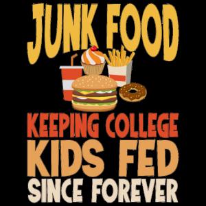 Junk Food ist ungesund lustig sarkastisch Schule T-Sh
