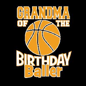 Oma des Geburtstagsballer-Basketball-Themas