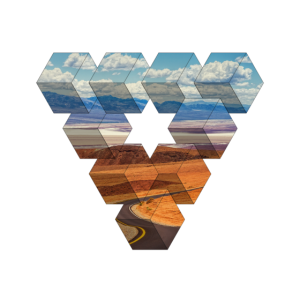 Dreieck Form / Landschaft / Geschenk