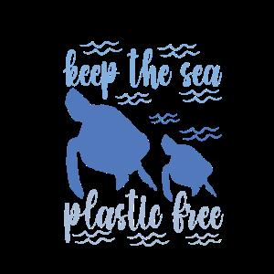 Halten Sie das Sea Plastic Freerecycling Bewusstseinsgeschenk