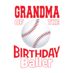 Oma des Geburtstagsballer-Baseball-Themas