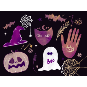 Hallowen Maske Black