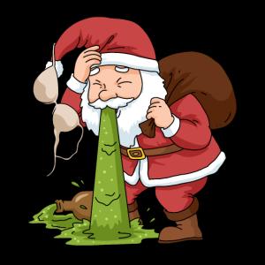 Lustiges Weihnachtsshirt Betrunken Weihnachtsmann