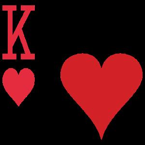Spielkarte Herz Halloween Partnerkostüm