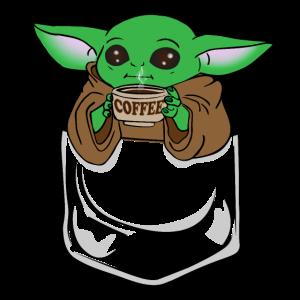 babyyoda coffee pocket büro geschenkidee