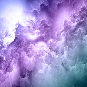 Gesichtsmaske lila blau