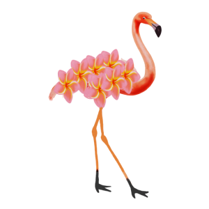 Flamingo Tropical Floral