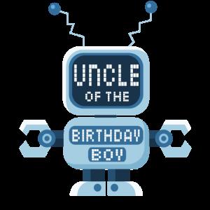 Onkel des Geburtstagskind-Roboterliebhabers Bday Party