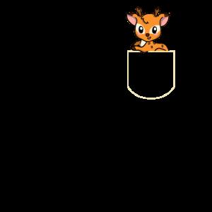 Hirsch in Der Brusttasche Reh TShirt