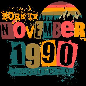 November 1990 geboren Geburtstag Geschenkidee