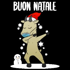 Buon Natale Divertente Capra Tosatrice Tosaerba
