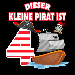 4 Jahre alt Geburtstag Junge Pirat