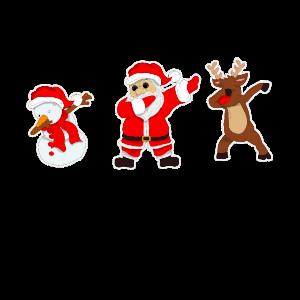 Dabbing Schneemann Weihnachtsmann Rentier