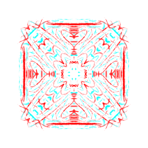Blue and Red Mandala