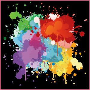 Holi Klecks Spritzer Festival Geschenk bunt Farbe