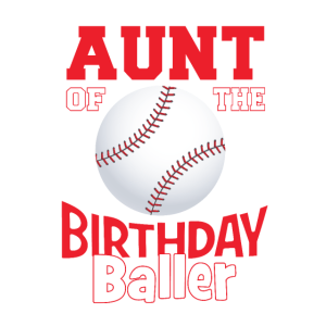 Tante der Geburtstagsballer-Baseball-Themenparty