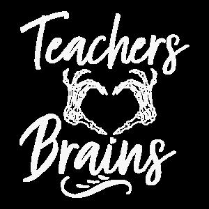 Lehrer lieben Gehirne Halloween