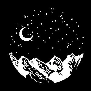Mountain Range Night Sky