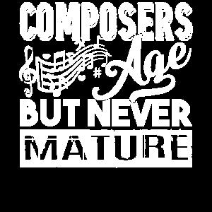 Komponist Komponisten Alter, aber nie reif