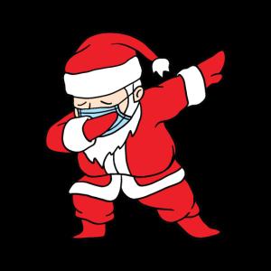 Dabbing Santa Nikolaus Atemschutz Virus Weihnachts