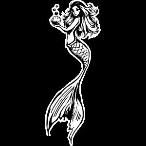 2020 09 27 Meerjungfrau Umriss schwarz und weiß