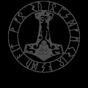 Thors Hammer Viking Runes