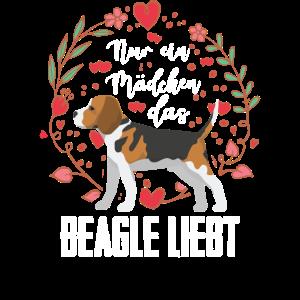 Beagle Ein Mädchen Das Beagle Liebt Hund Geschenk