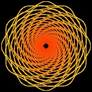 Heilige Geometrie Spiralle Sonne