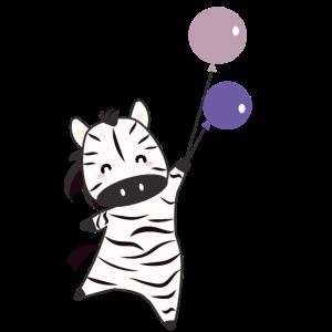 Zebra Ballons süße Tiere Safari Zoo Lieblingstier