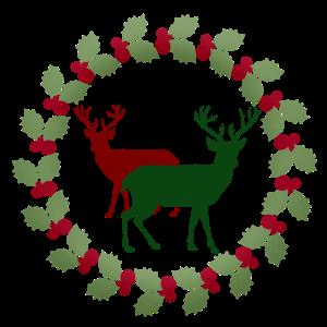 Merry Christmas Stechpalmenkranz