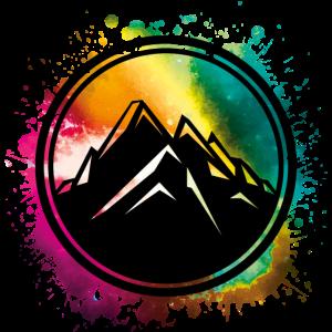 mountain berge symbol bunt klecks