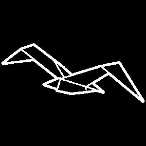 Norddeutschland Origami Möwe