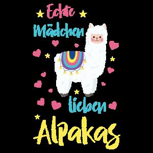 Echte Mädchen lieben Alpakas