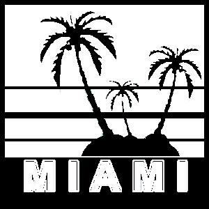Miami Vintage Retro USA Strand Beach