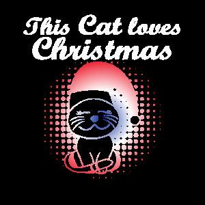 Weihnachtskatze, Kätzchen liebt Weihnachten