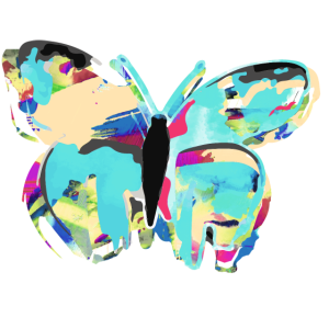 Schmetterling, Aquarell ,pastell, Malerei ,mint