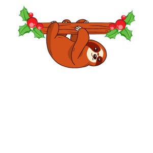 Faultier Mistelzweig Weihnachten Schnee Geschenk